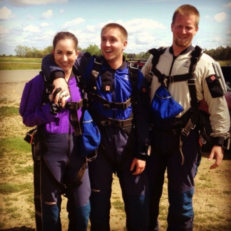 We went skydiving together!